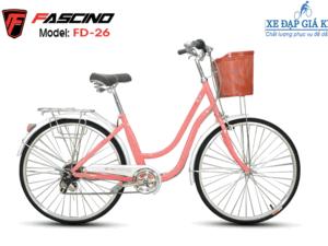 Xe Đạp Phổ Thông 26 INCH FASCINO phiên bản màu Hồng