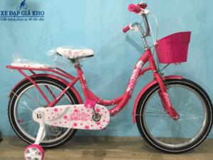 Xe Đạp Trẻ Em 20 Inch JIQIMAO-Màu Hồng Đậm