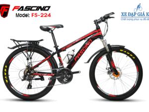 Xe Đạp Thể Thao 24 Inch FASCINO FS224 màu Đen đỏ