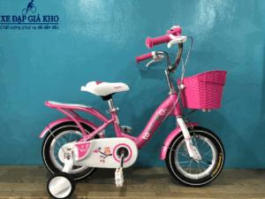 Xe Đạp Trẻ Em 12 inch TOYOU TY-24-Màu Hồng Đậm