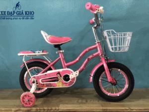 Xe Đạp 12 Inch Nữ Conquer Speed Sườn 2 ống – Màu Hồng