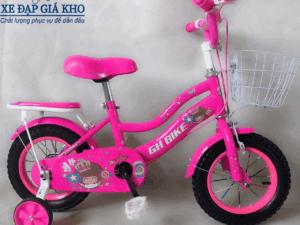 Xe Đạp Trẻ Em 12 Inch GH Bike 2 Ống-Màu Hồng